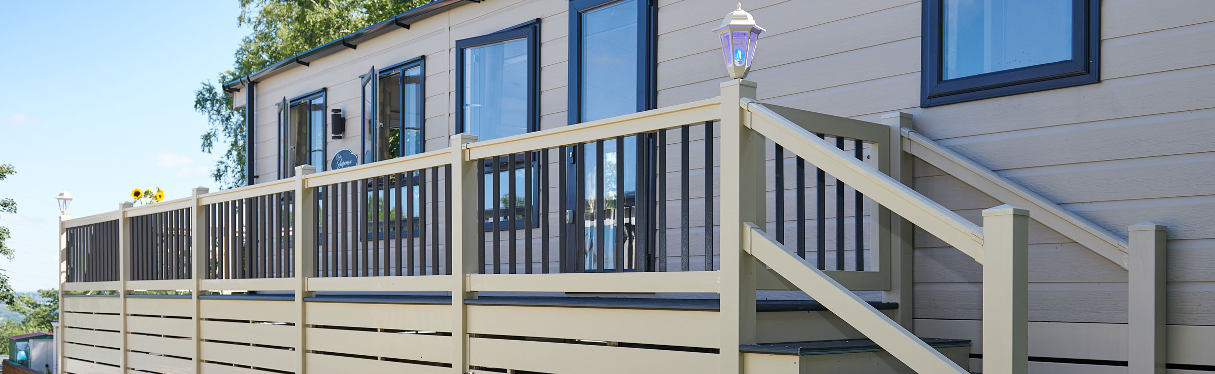 Decking designed for caravans, holiday and park homes